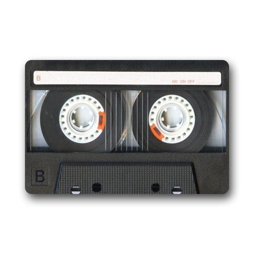 Fashion Vintage Retro Cassette Tape Entrance IndoorOutdoor Floor Door Mats Welcome Doormat - 236 L x 157 W 316 Thick