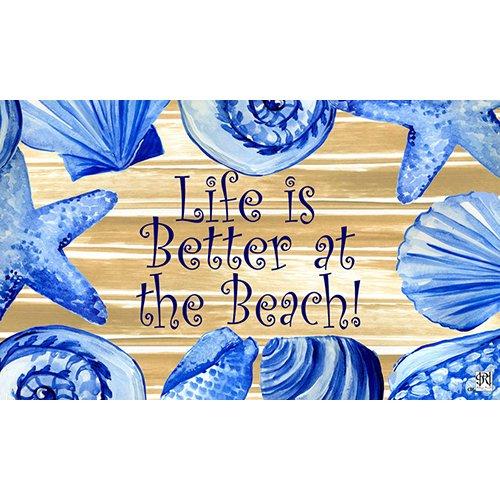 Life Is Better At The Beach Door Mat Novelty Floor Mat