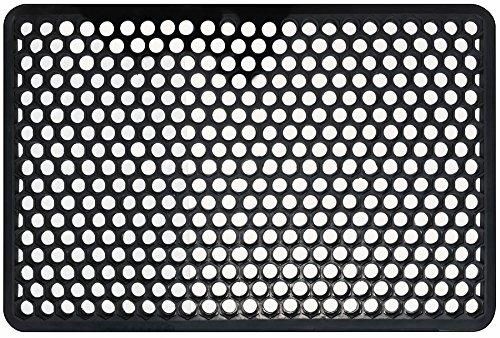 Shepherd Hardware Indooroutdoor Recycled Rubber Floor Mat - 22 X 34-inches Black