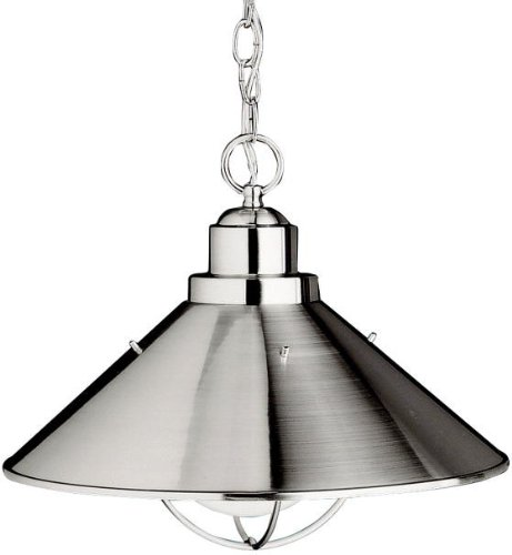 Kichler 2713NI Seaside Aluminum Outdoor Ceiling Lighting 150 Total Watts Brushed Nickel