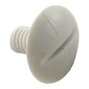 4 Polaris C55 Pool Cleaner 180 280 Plastic White Wheel Screws Part C-55 (4 Pack)