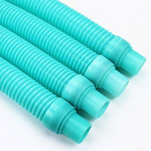 XtremepowerUS 4 Pcs Pool Cleaner Hose Kreepy Krauly Baracuda Zodiac G3 G4 Hayward - Turquoise Blue