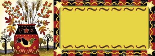 Autumn Redware Art-SnapsMagnetic Mailbox Art
