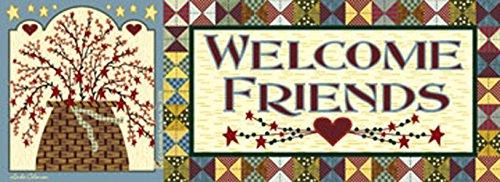 Bittersweet Basket Welcome Art-SnapsMagnetic Mailbox Art