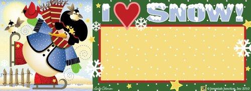 Skating Snowman Art-SnapsMagnetic Mailbox Art