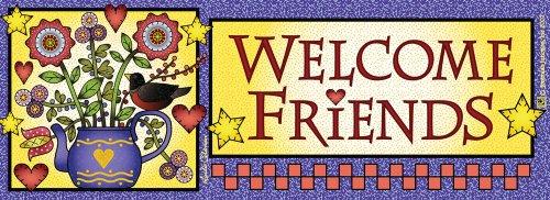 Teapot Welcome Friends Art-SnapsMagnetic Mailbox Art