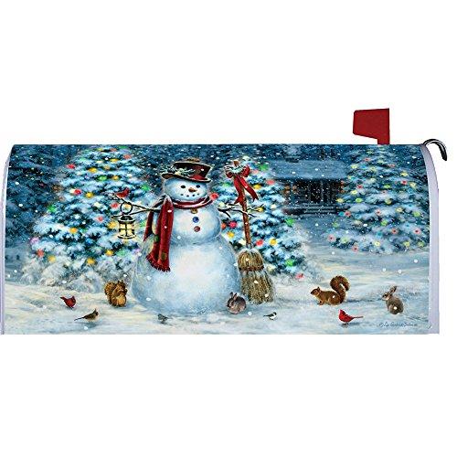 Custom Decor Festive Snowman Large Mailbox Cover