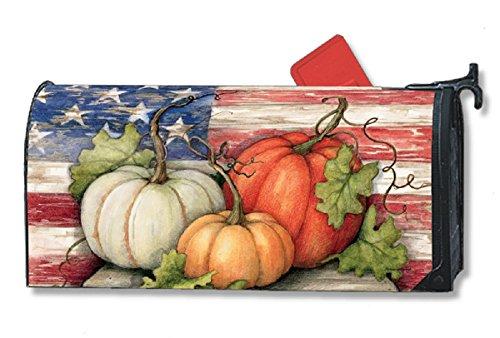 Mailwrap - Patriotic Pumpkins - Large Mailbox Cover