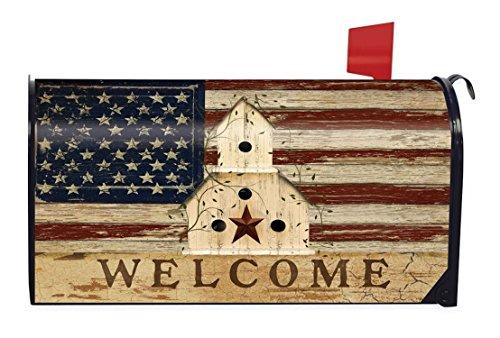 Briarwood Lane Americana Welcome Large Mailbox Cover Patriotic Primitive Oversized