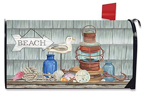 Briarwood Lane Beachy Vibes Summer Large Mailbox Cover Nautical Rustic Oversized