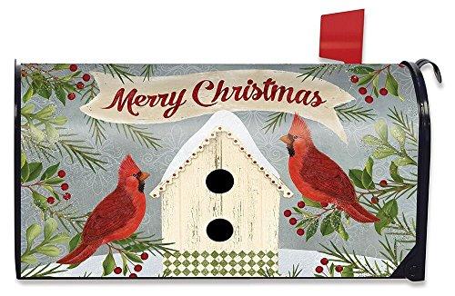 Briarwood Lane Christmas Cardinal Birdhouse Large Mailbox Cover Primitive Oversized