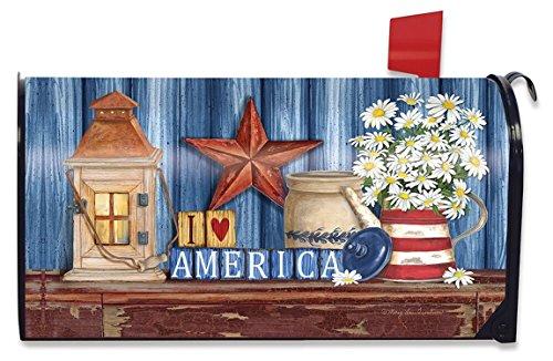 Briarwood Lane Lantern and Daisies Summer Large Mailbox Cover Patriotic Oversized
