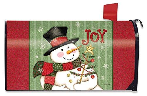 Briarwood Lane Snowman Joy Christmas Large Mailbox Cover Primitive Oversized
