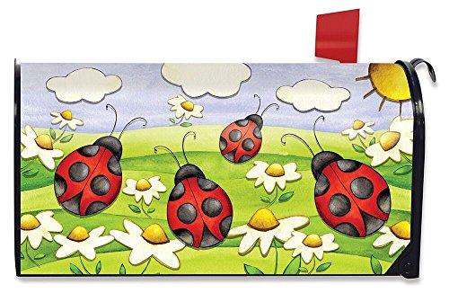 Briarwood Lane Springtime Ladybugs Seasonal Large Magnetic Mailbox Cover Daisies Oversized