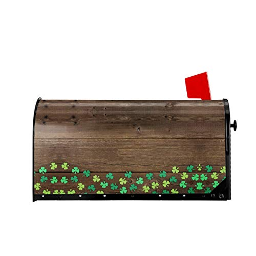 Foruidea Shamrock St Patricks Day Wooden Mailbox Covers Magnetic Mailbox Wraps Post Letter Box Cover Standard Oversize 21 X 18 Mailwrap Garden Home Decor
