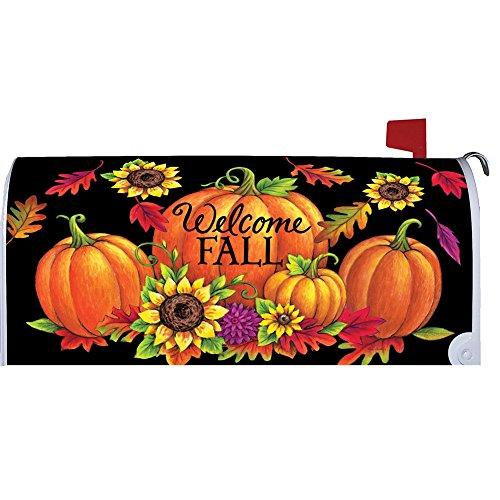 Custom Decor Pumpkin Sunflowers Welcome Fall Large Mailbox Cover