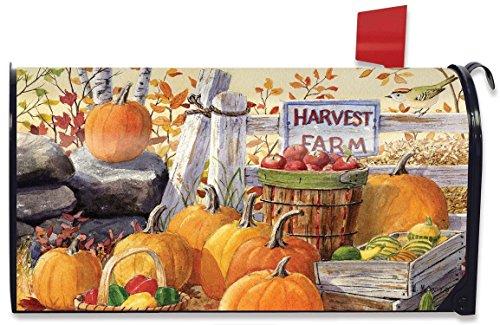 Harvest Farm Fall Magnetic Mailbox Cover Pumpkins Apples Standard Briarwood Lane