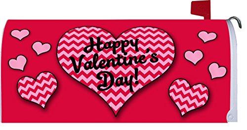 """ Chevron Valentine "" - Happy Valentines Day - Mailbox Makeover Vinyl Magnetic Cover"