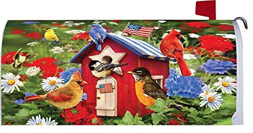 """ Patriotic Birdhouses "" - Patriotic - Mailbox Makeover - Vinyl Magnetic Cover"