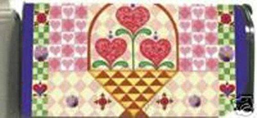Jim Shore Hearts Primitive Spring Magnetic Mailbox Cover