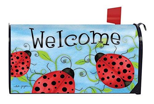 Ladybug Welcome Spring Mangetic Mailbox Cover Critters Briarwood Lane