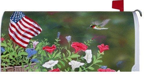 Patriotic Hummingbird - Mailbox Makeover Cover Newgy583-4 6-dfg251811