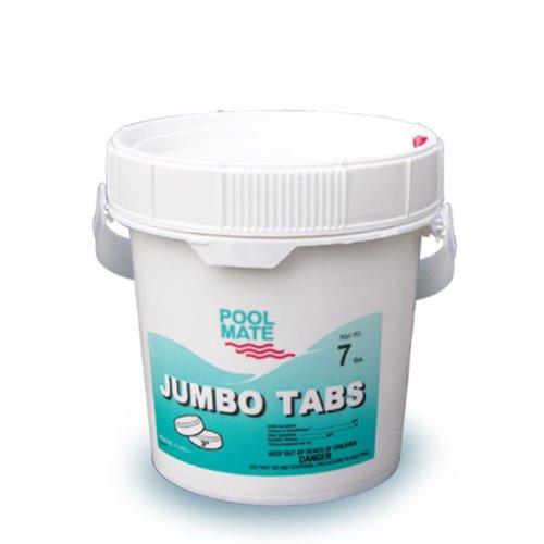 Pool Mate 1-1407 Jumbo 3-inch Chlorine Tablets 7-pound