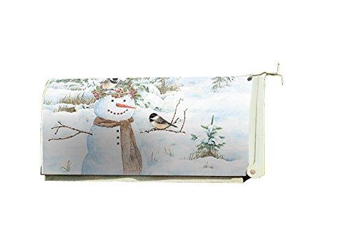 Lang Chickadee Snowman Mailbox Cover