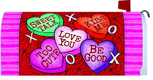Valentines Day Magnetic Mailbox Cover Wrap Conversation Hearts