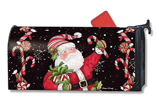 MailWraps Candy Cane Santa Mailbox Cover 01237