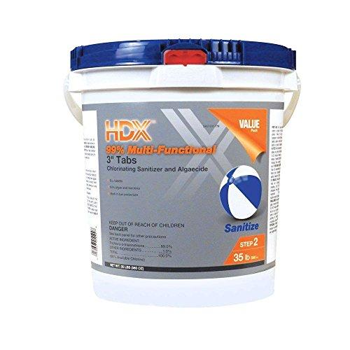 Hdx 35 Lb Multi-functional 3 In Chlorine Tabs
