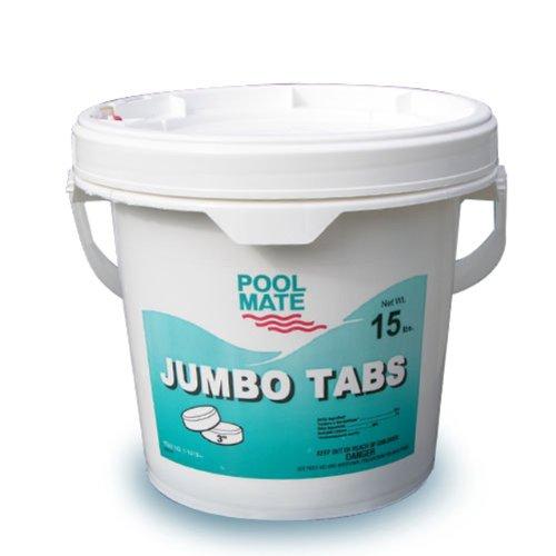 Pool Mate 1-1415 Jumbo 3-inch Chlorine Tablets 15-pound