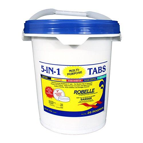 Robelle 1420m 5-in-1 Multi-purpose 3&quot Chlorine Tabs 20 Lb