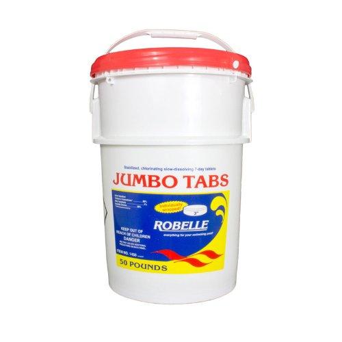Robelle 3 Inch 1425 Sanitizer Jumbo Chlorine Tablets For Swimming Pool- 25 lbs