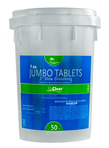 Rx Clear 3 Inch Stabilized Chlorine Tablets 50 Lbs