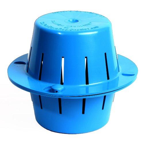 The Sunken Treasure - Sinking  Floating Pool Chlorine Dispenser - Sinks Sanitizes Pool Water Then Floats Up for Refilling - Uses 3 Inch Chlorine Tabs Light Blue