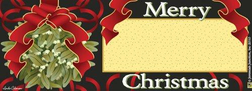Christmas Mistletoe Art-snaps&reg Magnetic Mailbox Art