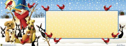 Winter Friends Snowman Art-snaps&reg Magnetic Mailbox Art