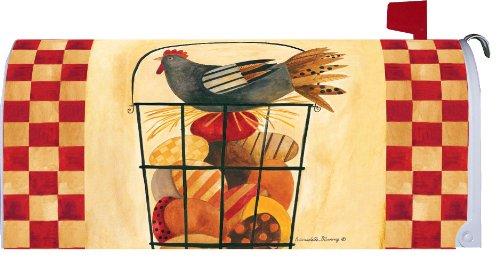 Egg Basket  - Hen on Eggs - Mailbox Makeover Vinyl Magnetic Cover