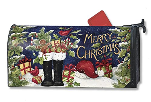 Mailwraps Santas Boots Magnetic Mailbox Cover 05006