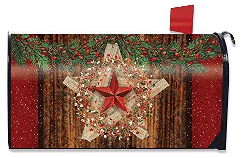 Briarwood Lane Holiday Barnstar Berries Magnetic Mailbox Cover Christmas Primitive Standard