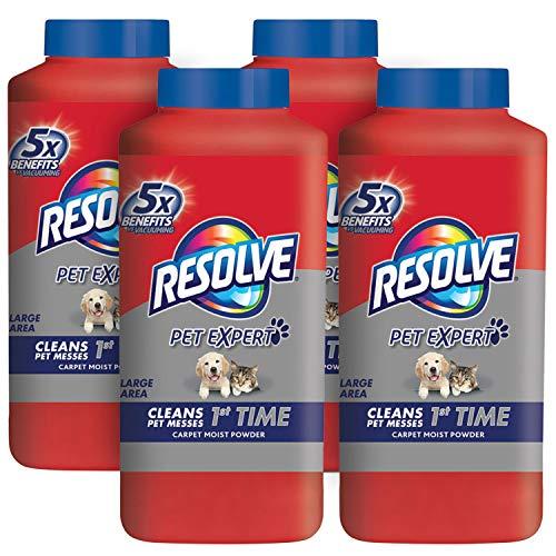 Resolve Pet Carpet Cleaner Powder 72 oz 4 Bottles x 18 oz For Dirt Stain Removal