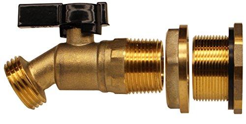 RAINPAL RBS022LF Rain Barrel DIY Spigot Brass Ball Valve and Bulkhead Fitting Lead Free Compliant