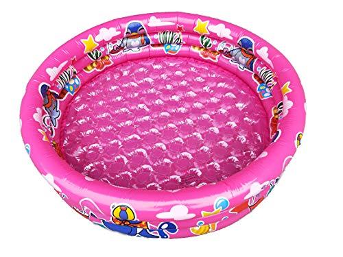 Big summer Inflatable Kiddie Pool-3 Ring Circles Swimming Pool Ball Pit Pool47 X 16 Pink