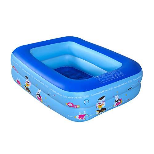Leadmall Inflatable Kids Swimming Pool - Summer Outdoor Kiddie Water Play Fun Water Pool - Children Rectangular Pit Ball Pool S 452×334×137in Dark Blue