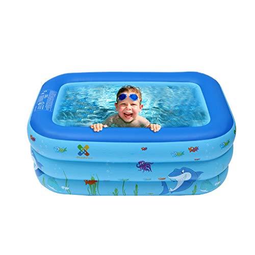 Super Bally Inflatable Kiddie Pool Ball Pool Family Kids Water Play Fun in Summer 39in Ground Backyard Swimming Pool