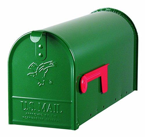 SOLAR Gibraltar Series Standard Size Galvanized Steel Rural Mailbox NEW Green