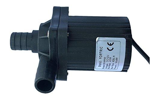 Fortric Dc 12v 12a 170gph Waterproof Submersible Fountain Pump Brushless Motor Aquarium Fish Tank Pump Water