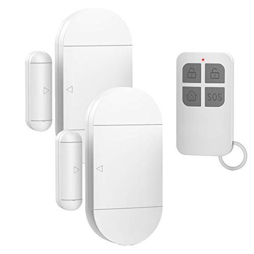 Door Window Pool Alarm130dB Wireless Magnetic Sensor Anti-Theft Door Alarms for Kids SafetyHome Store Garage Apartment Business Security 2 Alarm Sensors  1 Remote Control