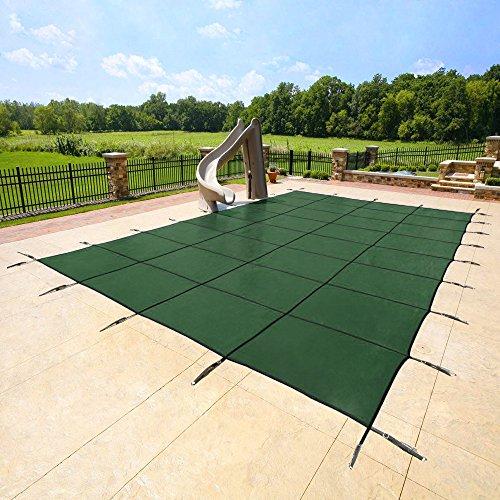Yard Guard 20 X 40 Feet Rectangular Mesh Pool Safety Cover Green  Dg20405